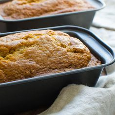 It's not the holidays without Aunt Lynne's famous pumpkin bread - this recipe makes three loaves -- enough to enjoy yourself and share with friends! Pumpkin Pound Cake, Moist Pumpkin Bread, Dessert Bread, Dessert Recipes, Desserts, New Cooking, Cooking Recipes, Cooking Games, Cooking Ribs