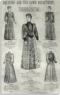 Image result for tea gowns 1890s