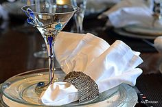 My jewelry is not only for my arm but as table setting bling!