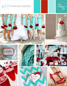 Wedding Inspiration Board No. 01 - Tiffany Blue And Red | www.thebigday.co.nz