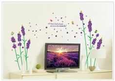 New Design As Long As Hard to Breath You Can See the Miracle Quote Lavender Purple Flowers Romantic Wall Decor Decals