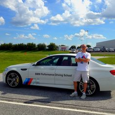 Don Schnure at the BMW Performance Center ///M driving school.