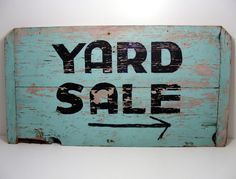 vintage garage sale sign - Google Search