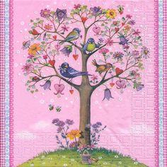 Serviett, 33x33 cm - Love tree
