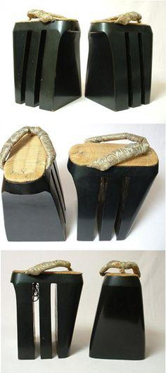 Antique Japanese Oiran Shoes Koma-geta
