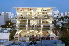 Edgy: Miami's 1111 Lincoln Road is a car park come avant garde event space - and Ferrari have even hosted a party there