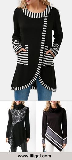 long sleeve blouses for women black blouses Spring outfits fashion spring fashion outfits casual outfits cute outfits women's fashion ideas women's fashion women's style women's inspiration Fashion Women, Fashion Ideas, Fashion Outfits, Trendy Fashion, Casual Dresses Plus Size, Modest Dresses, Blouse Styles, Blouse Designs, Pretty Outfits