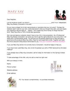 welcome to the neighborhood flyer by mary kay | Booking with Samples >> can easily be changed for Jamberry