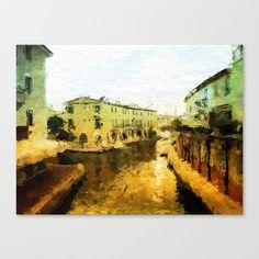 Port Grimaud - France Stretched Canvas by Escrevendo e Semeando - $85.00