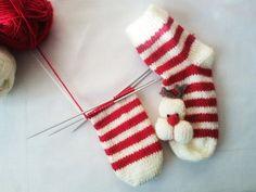 Christmas socks / With 3D Deer Applique / Christmas by Iamamother, $19.90