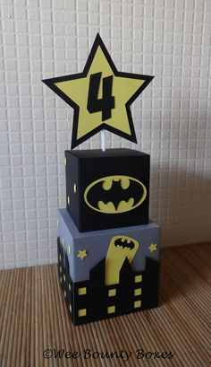 Superhero Skyline Table Centrepieces