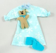 Doll Clothes: Nightgown Teddy Bear Slippers for by JoellesDolls