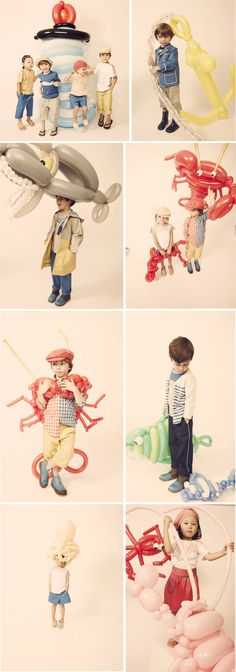 great campaign by kicokids. giant whimsical sea creature balloons = fashion.