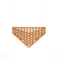 Chevron Grid  Long Necklace Laser Cut Jewelry - Necklace by foliadesignsf, $48.00