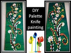 palette knife painting | how to paint flowers | knife art acrylic painting | wall decor ideas - YouTube
