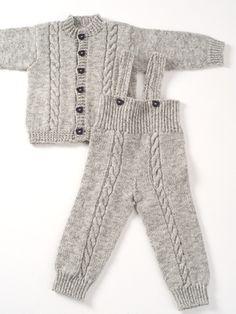 Neulottu vauvan takki ja housut Novita Nalle   Novita knits