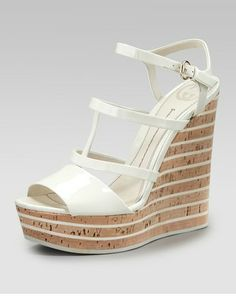 Gucci Elin Cork Wedge