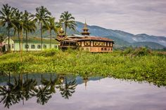 Village on the banks of Inle Lake by Armand L'Ortije on 500px