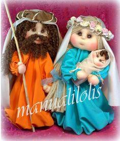 belen-munecas-tela2 Sock Dolls, Christmas Holidays, Christmas Ornaments, Sewing Dolls, Waldorf Dolls, Soft Sculpture, Doll Clothes Patterns, Fabric Dolls, Crochet Hats