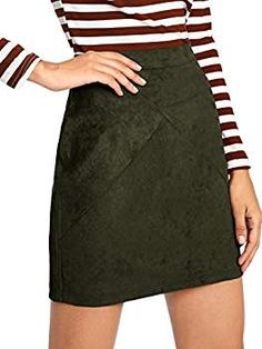 53b45ad52 Simplee Apparel Women's High Waist Faux Suede Mini Short Bodycon Skirt  Camel, 8/10 (L) at Amazon Women's Clothing store: | Women's Skirts |  Pinterest ...