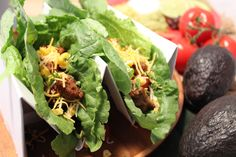 Chicken Taco Lettuce Wraps Recipe with our Premio Chicken Sausage satisfy every taco craving without the guilt! #recipe #tacorecipe #chickensausage
