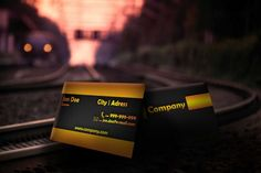 Modern double sided black business card template, available for free download as Adobe Photoshop (PSD) file.