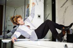 Kim Jae Joong- i didnt even recognize him here Hello Gorgeous, Gorgeous Men, Park Yoo Chun, Popular Magazine, Kim Jae Joong, V Live, Jaejoong, Tvxq, Korean Men