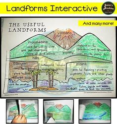 Fun and engaging way to teach Landforms to your students. Includes the following: desert, valley, mountain, volcano, plain, island, hills, river, ocean, lake, canyon and peninsula.