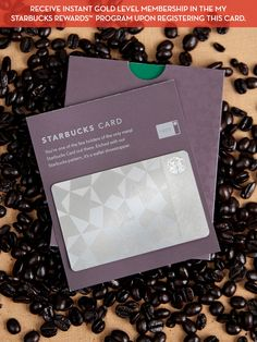 Limited Edition Metal Starbucks Card with Gold Level Membership - Gilt Home