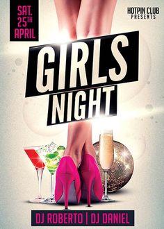 Girls Ladies Night Party Flyer