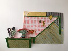Betty Woodman Country Dining Room 2015 http://www.demagazine.co.uk/design/marion-wagschal-at-canada-gallery-and-betty-woodman-at-the-ica