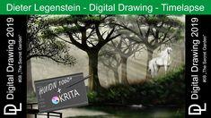 "Dieter Legenstein – Digital Painting 2019 / Picture ""The Secret Garden"" The Secret Garden, Flowering Shrubs, Painting & Drawing, Natural Stones, Golden Rules, Photoshop, Digital, Drawings, Plants"