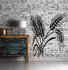 Ears Wheat Grain Decor Living Room Wall Sticker Vinyl Decal (n263)