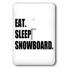 3dRose Eat Sleep Snowboard - snowboarding enthusiast - fun snowboarder sport, Single Toggle Switch