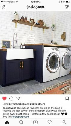 50 Best Laundry in Kitchen images in 2017 | Laundry Room, Laundry