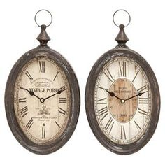 Albert Wall Clock (Set of 2)