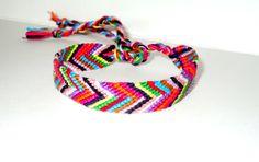 Flower Power friendship Bracelet by CarriesCrafts2 on Etsy, $3.00
