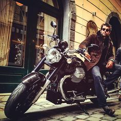"""Stanley Weber on Instagram: """"Thank you very much @moto_guzzi_official // had the best ride on set of #letmegothemovie"""""""