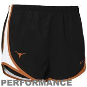 Nike Texas Longhorns Ladies Black Dri-FIT Tempo Performance Training Shorts