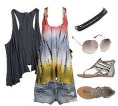 Summer styles are some of my favorites, love the sandles and the flowy vest