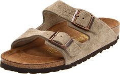 """$94.45-$120.00 Birkenstock Unisex Arizona Sandal,Taupe Suede,42 N EU - Birkenstock Men's / Women's Arizona Slip-On Sandals - a fully adjustable fit combined with superior support Slip your foot into the wonderful comfort of Birkenstock with this two-strap sandal. """"True-to-life"""" arch support encourages even weight distribution, proper posture and a healthy step across the foot's four arches. The co ..."""