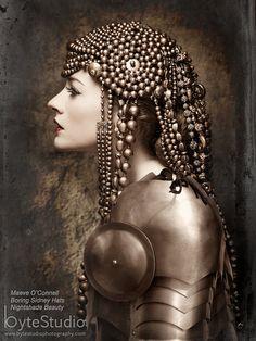 Beaded Headdress Headdress Bronze Beaded Hat Art by BoringSidney, Steampunk Mode, 3 4 Face, Estilo Tribal, Prince Charmant, Tribal Fusion, Headdress, Flapper Headpiece, Headgear, Crossover