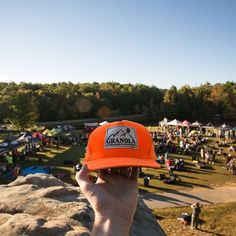 The Granola Hat getting a better perspective of Triple Crown 2013 Photo by Dillan Forsey