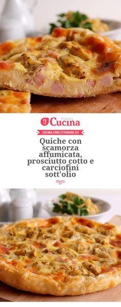 #Quiche con #scamorza affumicata, #prosciutto cotto e #carciofini sott'olio della nostra utente Giovanna. Unisciti alla nostra Community ed invia le tue ricette!