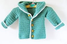 Crochet Baby Cardigan - Little Things Blogged                                                                                                                                                                                 More