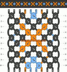 Normal Friendship Bracelet Pattern #437 - BraceletBook.com