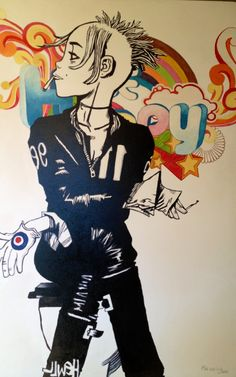 TG Be Happy - enamel on canvas