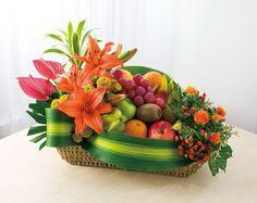 flower arrangement with fruit