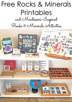 Free Rocks and Minerals Printables and Montessori-Inspired Rocks and Minerals Activities