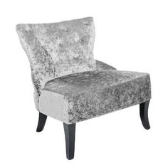 Belgravia Crushed Velvet Silver Chair        The Belgravia is now available in a dramatic crushed velvet fabric. Crushed velvet has a sensual and luxurious feel and is sumptuous, soft and so sophisticated. By adding this glorious chair into any design scheme will instantly create a sense of opulence and glamour. Color: Silver Item Size: H 830 W 800 D 790